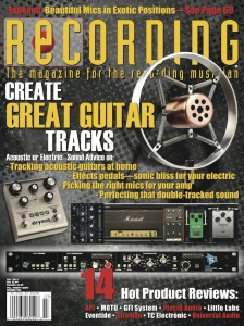 Copperphone Mini on cover of Recording Magazine Smaller
