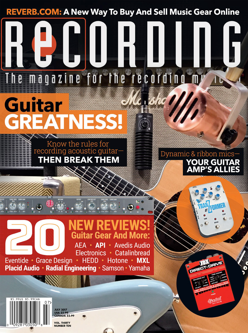 Resonator on Cover of Recording Magazine