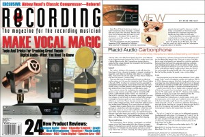 Carbonphone in Recording Magazine