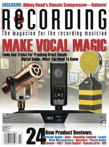 Carbonphone on Cover of Recording Magazine