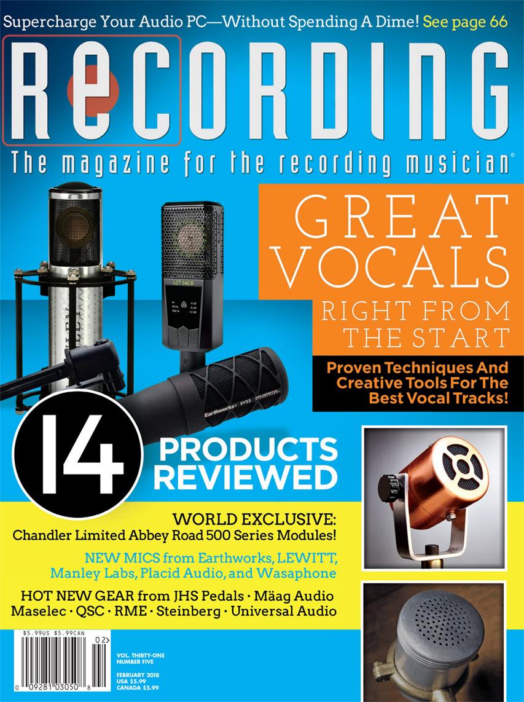 Resonator on Cover of Recording Magazine